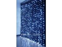Xmas LED flashing curtain lights long indoor or outdoor use