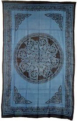Celtic Knots Bedspread, Mandela Blue: Tapestry, Hippie, Wall Hanging! 72 x 108 for sale  Fort Myers