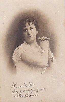 GIUSEPPINA GARGANO opera soprano signed photo as Lucia di Lammermoor