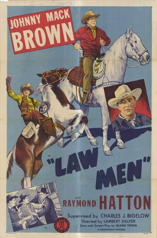LAW MEN Movie POSTER 27x40 Johnny Mack Brown Raymond Hatton Jan Wiley Kirby