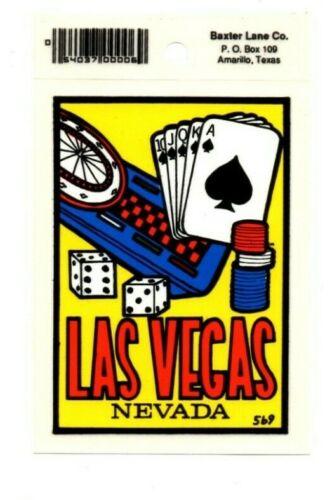 Lot of 12 Las Vegas Nevada Gambling Souvenir Decals Stickers - New - Free S&H
