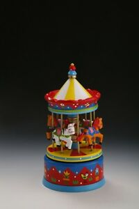 Wind-Up Musical Vintage Style Fairground Carousel Music Box