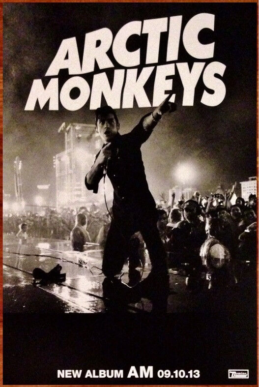ARCTIC MONKEYS AM Ltd Ed Discontinued NEW RARE Poster +BONUS Indie Rock Poster!