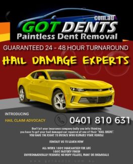 Hail damage repairs 24 hour turnaround