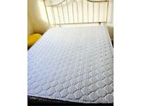 Double bed with clean mattress and headboard and divan bases can also deliver