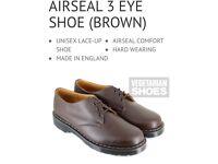 Men's size 10 shoes, vegetarian shoes, brown shoes, dr martens style