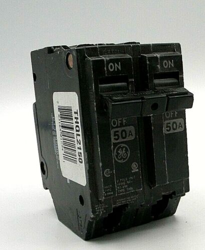 GENERAL ELECTRIC THQL2150 NEW CIRCUIT BREAKER 2 POLE  50 AMP 240 VAC (E3)