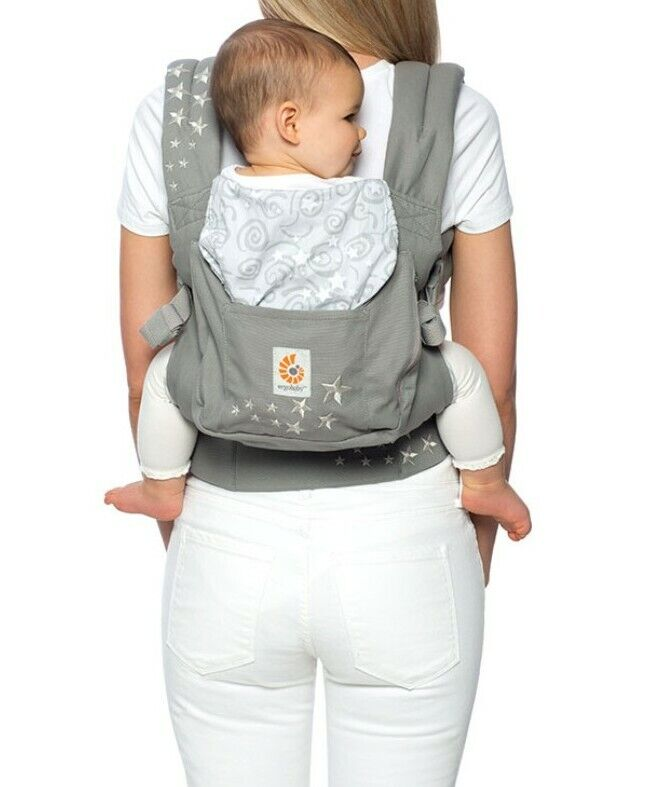 Ergo baby carrier gray with white stars