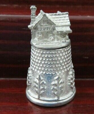 PEWTER THIMBLE - TOP HOUSE #2