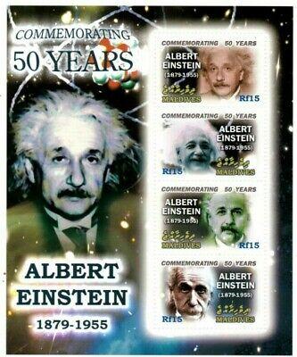 MODERN GEMS - Maldives - Albert Einstein - Sheet Of 4 - MNH