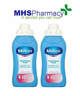 2 x Milton Sterilising Fluid (500ml)
