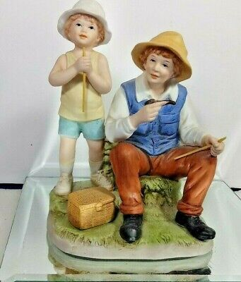 COLLECTIBLE PORCELAIN MAN BOY FIGURINE NUMBERED 1432