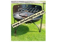FIRE PIT / BBQ WITH 1 SWING ARM BBQ RACK AND 1 SWING ARM KEBAB RACK