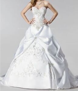 LIKE NEW Ball Gown Wedding Dress with Beadings