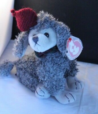 Ty Attic Treasurers Gray Poodle Beanie Babies Dog Cheri Ooh La La with Tags   for sale  Woodstock