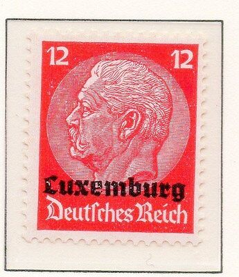 Luxembourg 1940 Early Occupation Issue Fine Mint Hinged 12c. Optd 150930