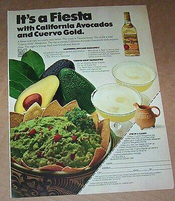 1978 Print Ad Page   Jose Cuervo Tequila Margarita   California Guacamole Recipe