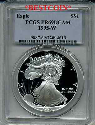 Click now to see the BUY IT NOW Price! 1995 W PROOF PR69 SILVER EAGLE PCGS PR 69 DCAM KEY DATE