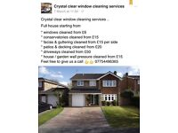 Crystal clear window cleaning services an property maintenance