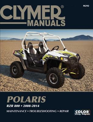 CLYMER SERVICE REPAIR MANUAL POLARIS RZR RAZOR RAZER 800 RZR800 4 S 2008-2014