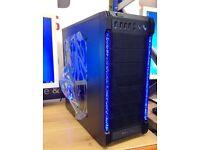 NEW FAST DESKTOP GAMING PC 8GB RAM 120GB SSD A10 QUAD CORE R7 WI-FI WINDOWS 7 FREE DELIVERY