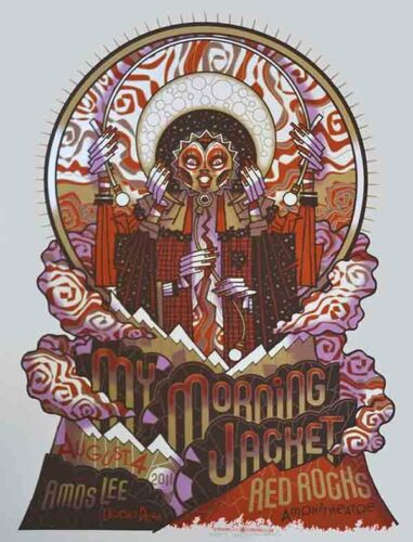 My Morning Jacket Red Rocks 2011 Ultra Rare Concert Poster Guy Burwell S/N Mint