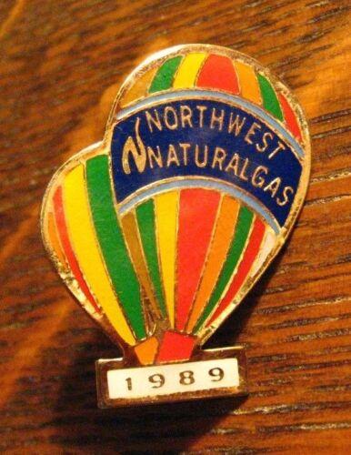 Northwest Natural Gas Lapel Pin - Vintage 1989 Portland Oregon Hot Air Balloon