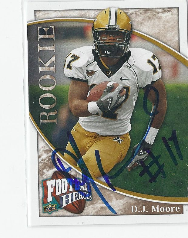 2009 UPPER DECK 179 D.J. MOORE AUTO AUTOGRAPHED CARD SIGNED COA PANTHERS