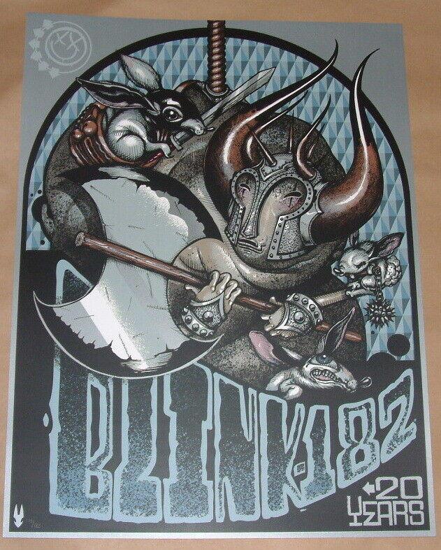 Blink 182 20th Anniversary Poster Print Greg Craola Simkins Numbered 2012