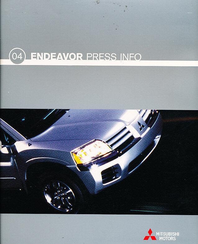 2004 Mitsubishi Endeavor Special Press Brochure