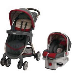 100% New Graco Stroller and Car Seat with Snugride 30