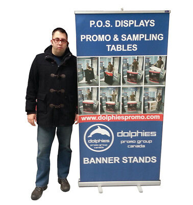 Durable 40 Retractable Banner Stand Roll Up Trade Show Display Custom Print