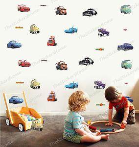 Disney cars 28pcs wall stickers boys room decor nursery kids lightning mcqueen ebay for Disney wall stickers for kids bedrooms