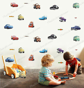 Disney CARS 28pcs Wall Stickers Boys Room Decor Nursery Kids Lightning  McQueen Part 73