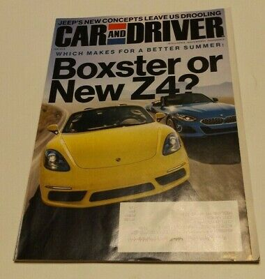 CAR AND DRIVER MAGAZINE JUNE 2019 K-POP JEEP CONCEPT PORSCHE BOXSTER BMW Z4 KIA Car And Driver Bmw Z4