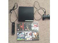 250gb PS3 + 6 games + pad - £65