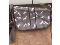 Horse Oilcloth Handbag