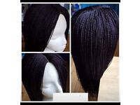 Braided wigs. Brand new in black and burgundy. £80 each.