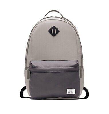 "NIKE SB ICON BACKPACK 15"" Laptop BAG 26L School BA5879-701 Gray Skateboarding"