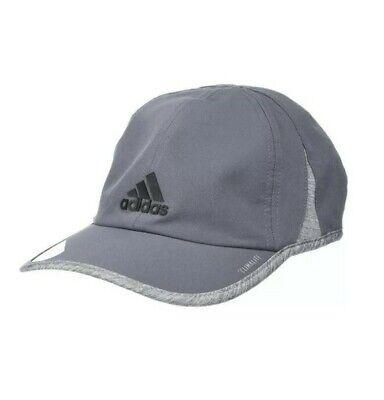 Adidas Mens Climalite Gray Hat Adjustable Cap Moisture Wicking Running Baseball