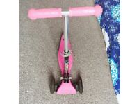 Kids Scooter (Like New with LED flashing wheels)