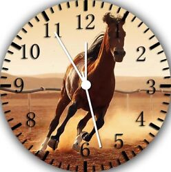 Beautiful Horse Frameless Borderless Wall Clock Nice For Gifts or Decor E360
