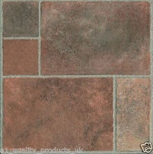 60 X Vinyl Floor Tiles Self Adhesive Bathroom Kitchen Bn Geometric Stone 187 Ebay