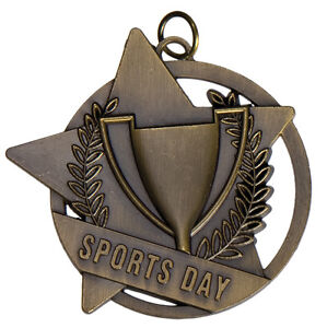 SPORTS-MEDAL-50mm-Antique-Gold-FREE-RIBBON-FREE-ENGRAVING-FREE-POST
