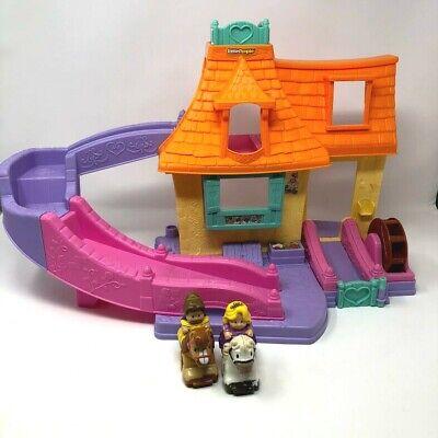 Fisher Price Little People Disney Princess Belle Klip Klop Cottage House