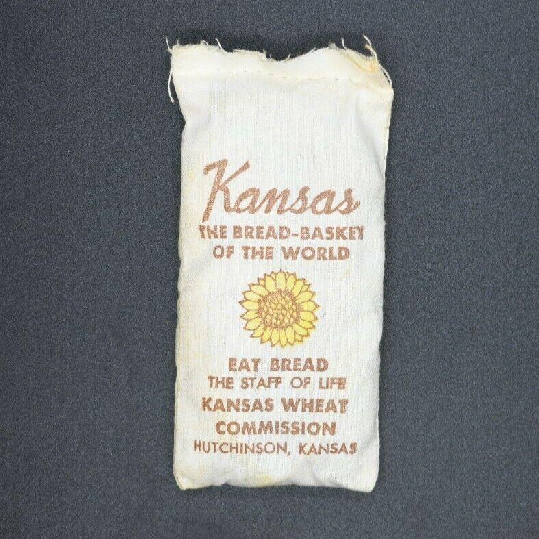 "Kansas The Bread-Basket of the World Mini ""Wheat"" Sack Souvenir Hutchinson, KS"