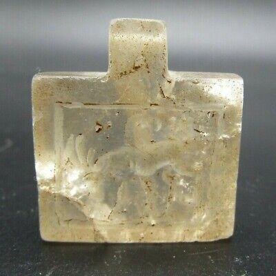 Near Eastern style rock crystal pendant