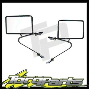 NEW TOYOTA LANDCRUISER 75 78 79 SERIES SIDE MIRRORS GLASS REAR VISION TRUCK PAIR