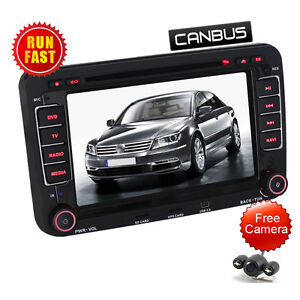 VW sat nav JETTA PASSAT TIGUAN GOLF Car DVD STEREO Ipod Bluetooth Backup Camera