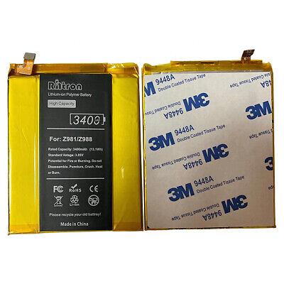 Sale!! 3.85v 3400mAh Battery For ZTE Grand X MAX 2 Z988 ZMAX PRO Z981 (Zte Grand X Max 2 For Sale)
